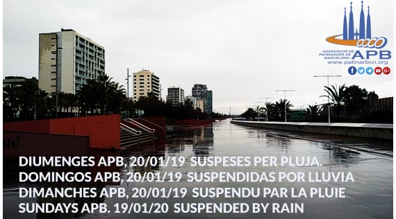2019/01/20 Sundays APB - Activities suspended by rain