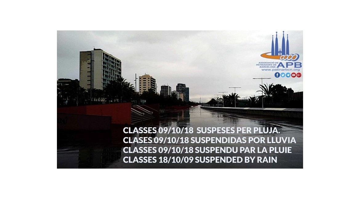 2018/10/09 Classes suspeses