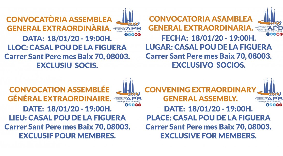 2019/12/18 Convocatoria Asamblea General Extraordinaria