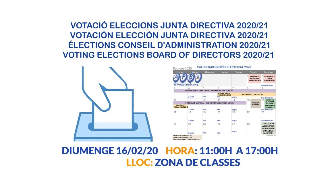 2020/02/16 Voting Election Board of Directors 2020/21