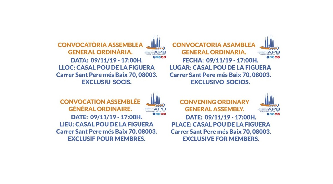 2019/10/07 Convocatoria Asamblea General Ordinaria